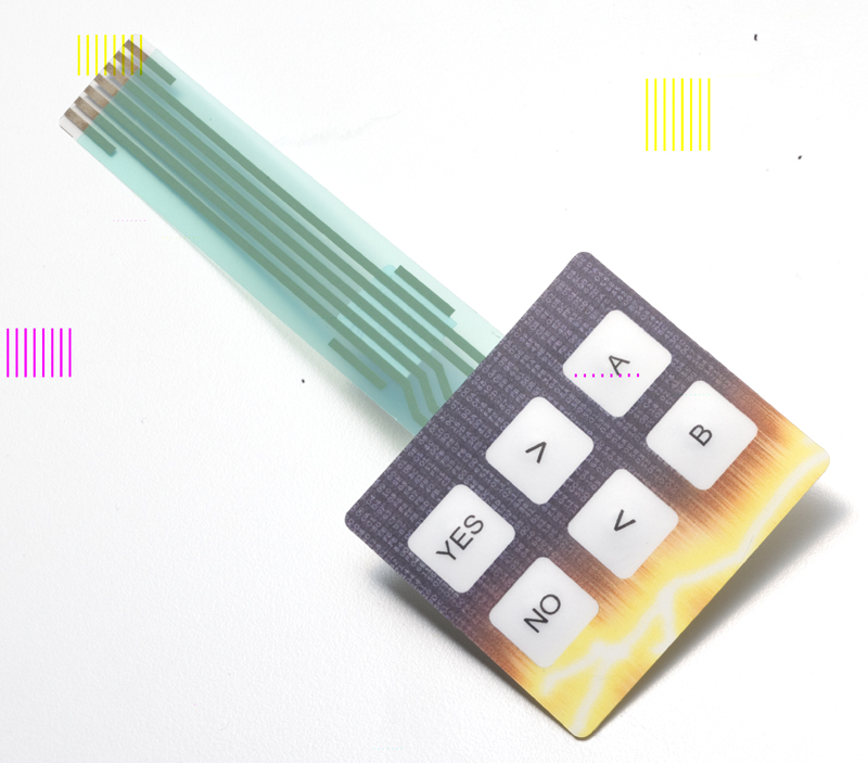Snap Action Tactile Dome Switch with Embedded Bi-Colo Membrane Keypad