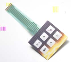 Snap action tactile dome switch with embedded bi-color membrane keypad